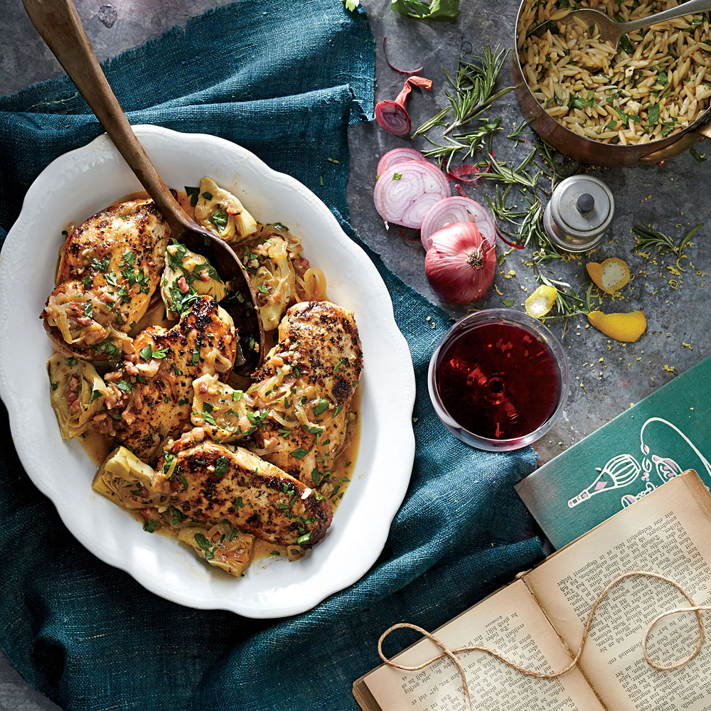 Chicken with Artichoke Pan Sauce