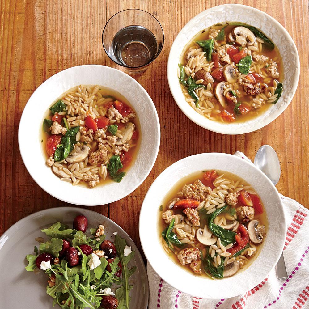 Italian Turkey and Orzo Soup