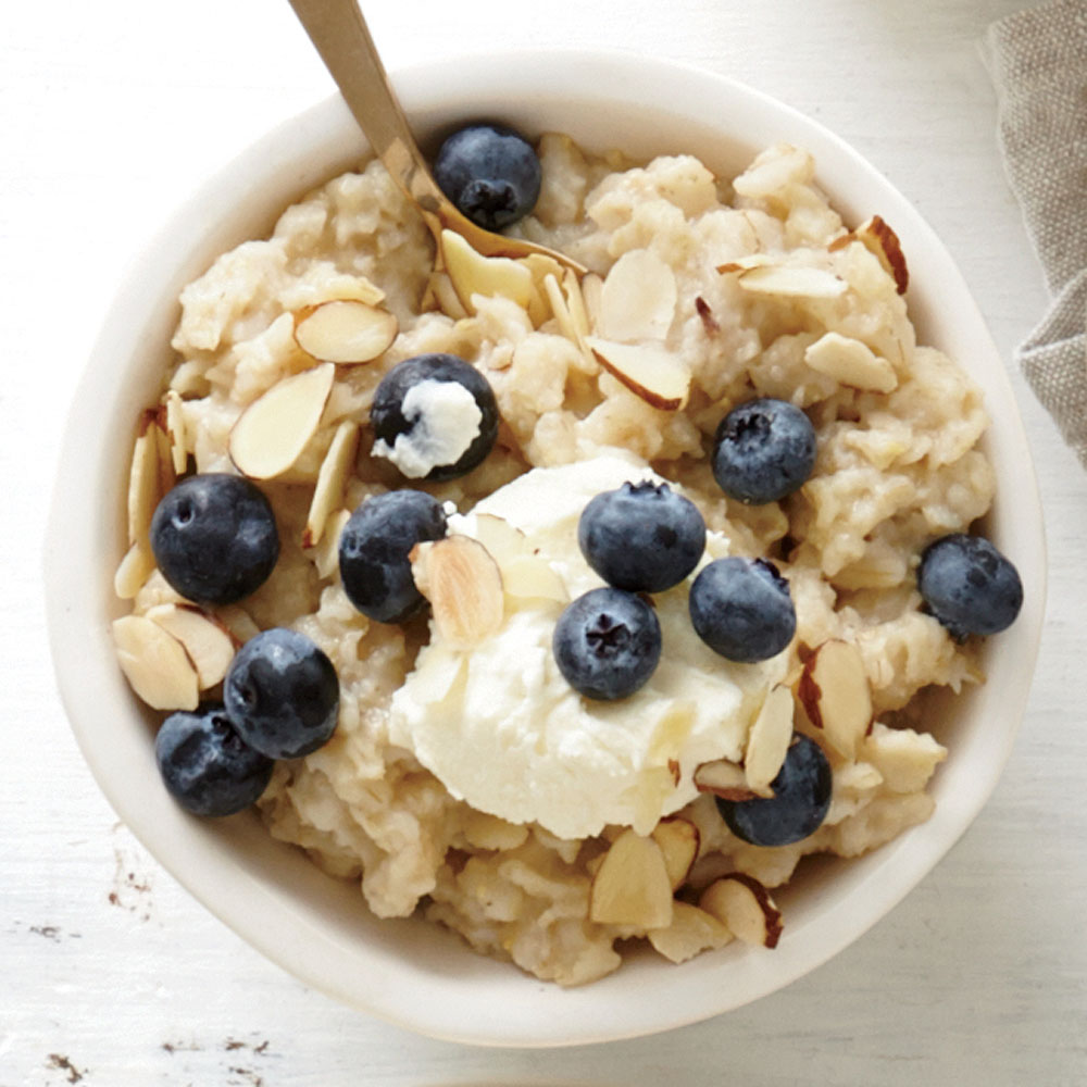 Lemon-Blueberry with Mascarpone Oatmeal Recipe