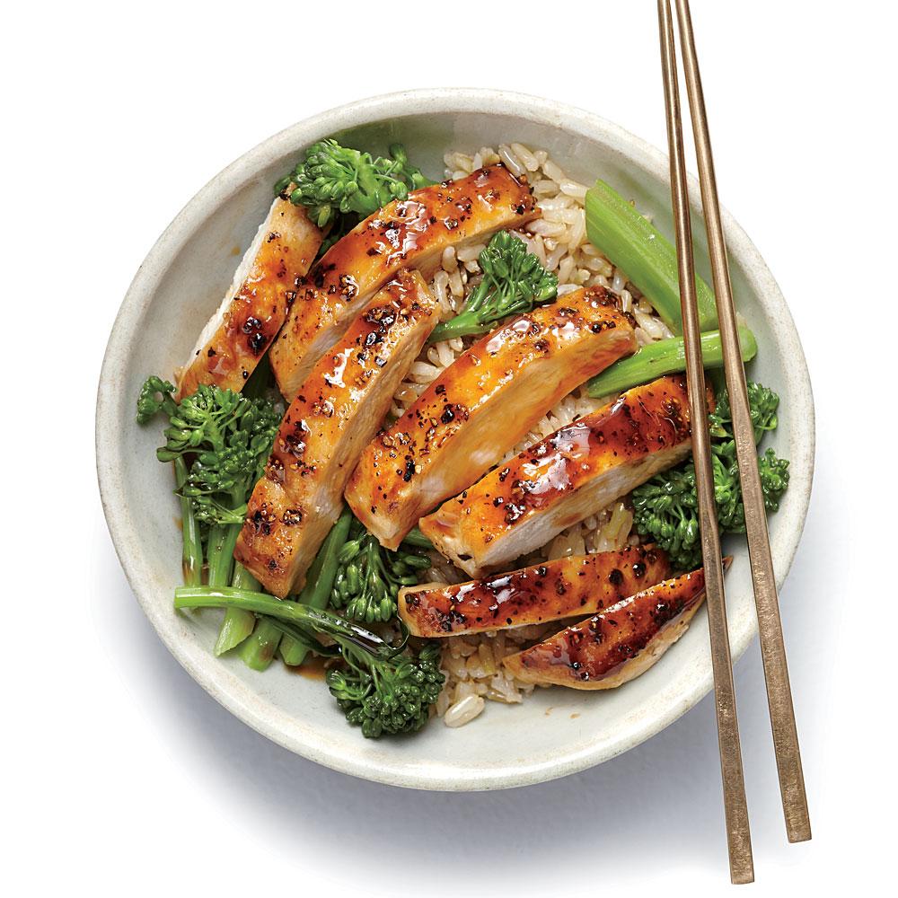 Lemon Chicken Teriyaki Rice Bowl