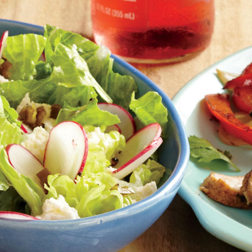 ck-Romaine Salad with Honey-Chile Dressing Image