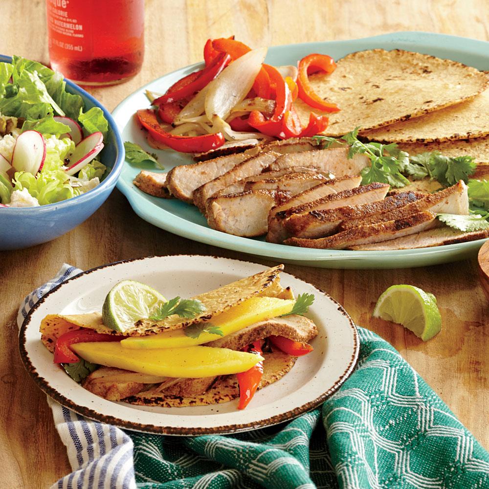 Spiced Pork and Mango Tacos