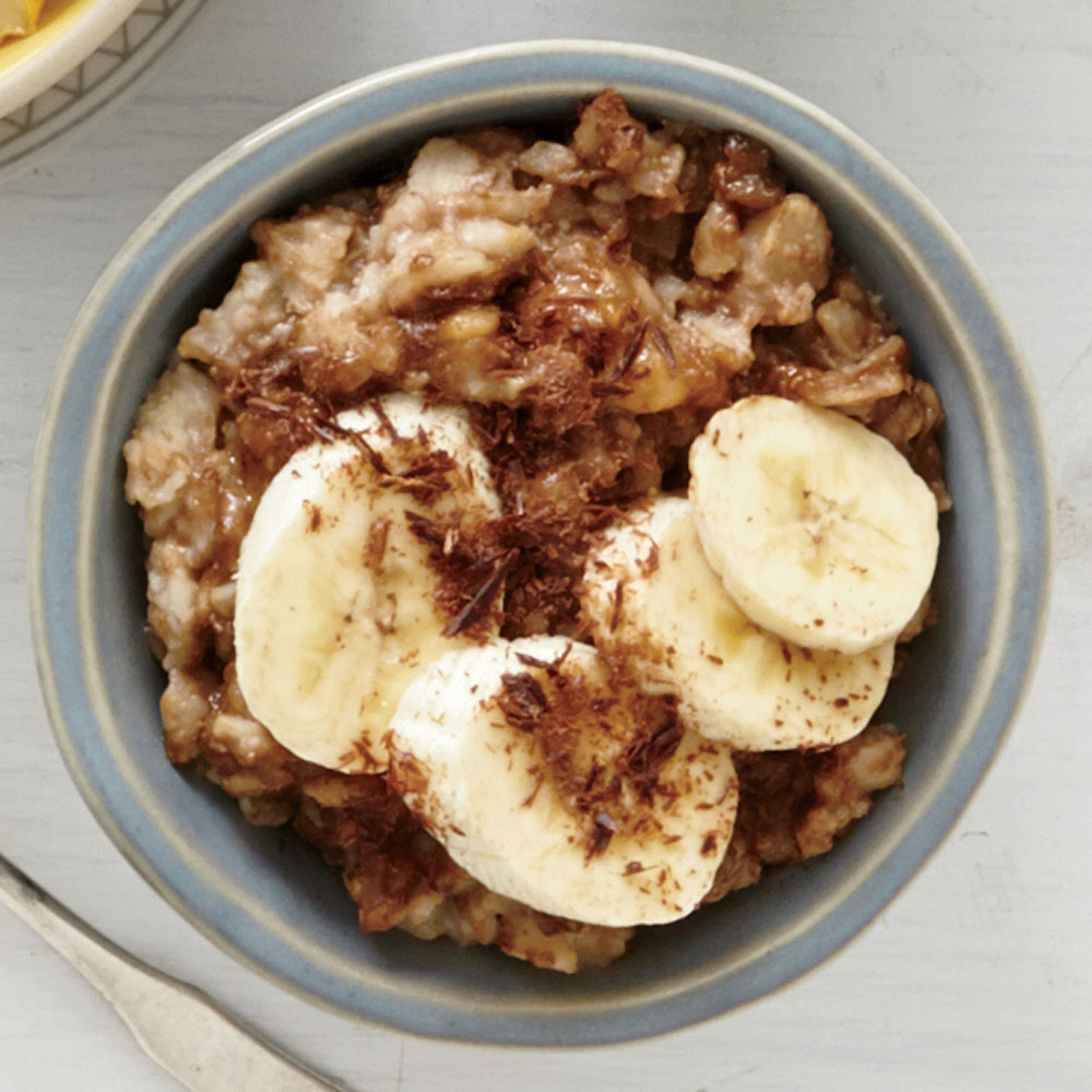 Sunflower Seed Butter, Banana, and Chocolate Oatmeal