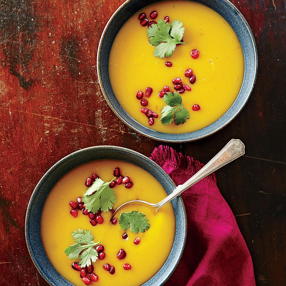 Warm-Spiced Butternut Squash Soup