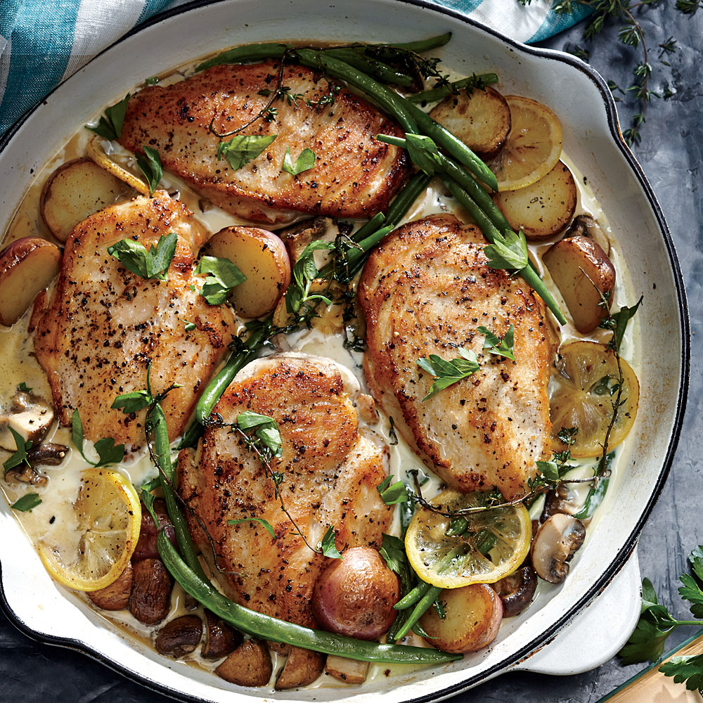 Weeknight lemon chicken skillet dinner recipe myrecipes forumfinder