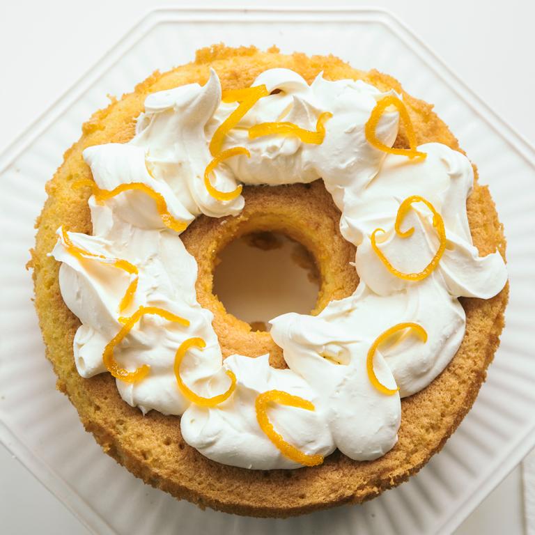Corn Flour and Orange Blossom Chiffon Cake