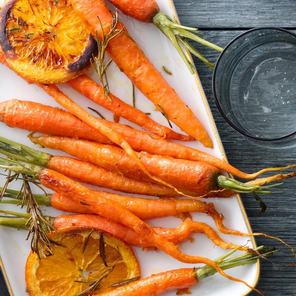 Orange-Rosemary Roasted Carrots