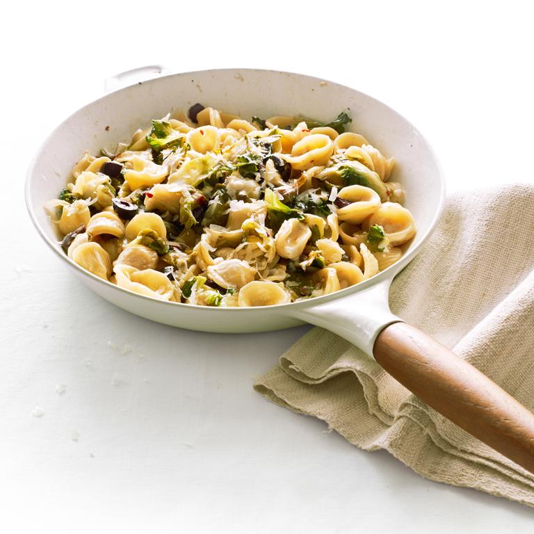 Orecchiette with Escarole, Capers, and Olives