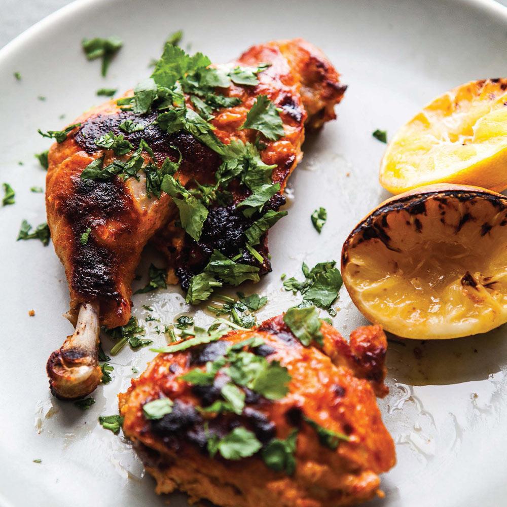 Yogurt-Paprika Chicken With Lemon