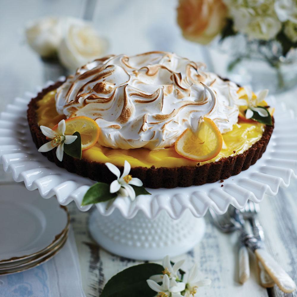 gingersnap meyer lemon meringue tart recipe myrecipes