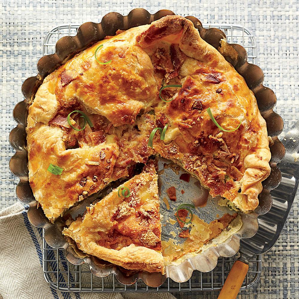Cheesy Bacon-and-Two-Onion Tart