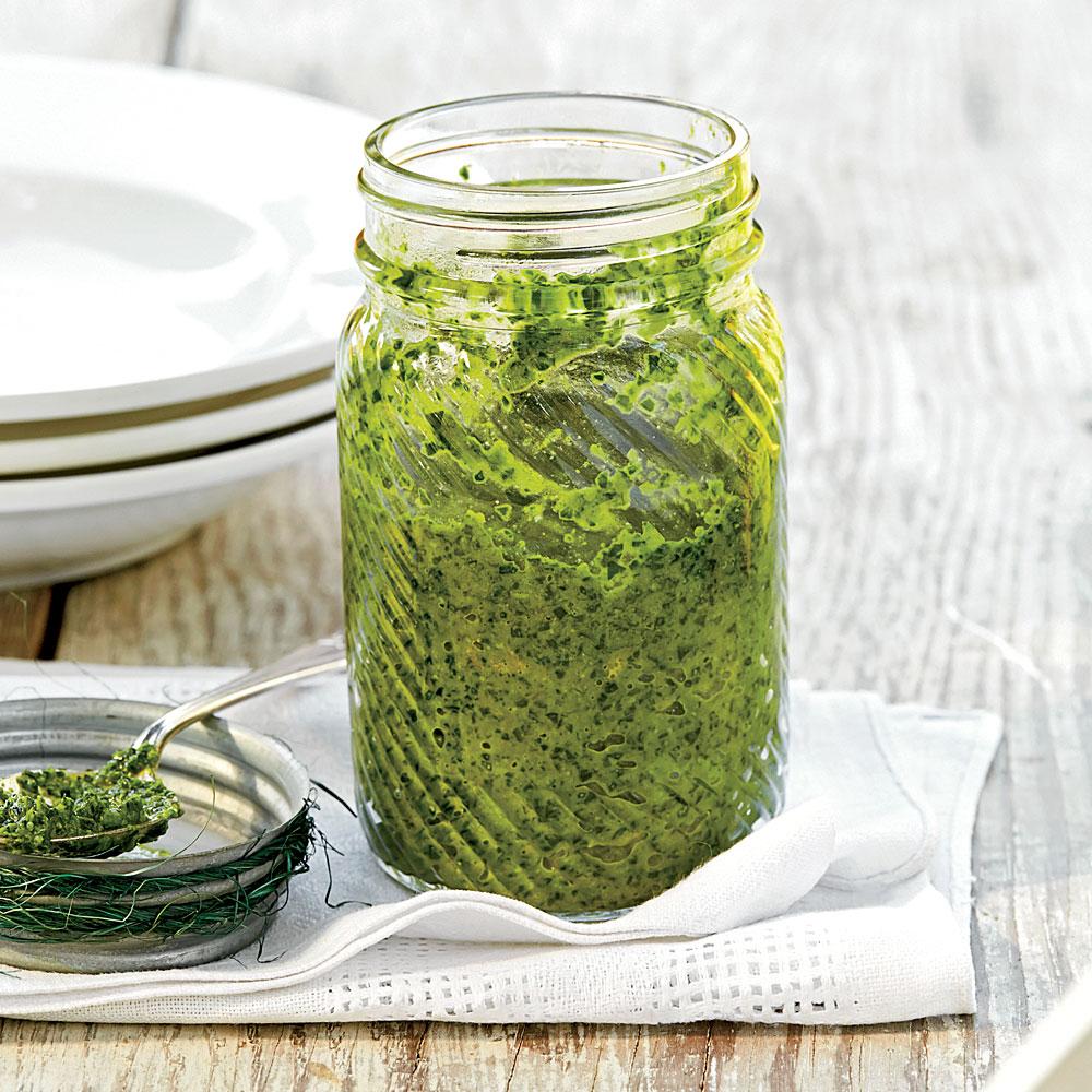Collard-and-Olive Pesto