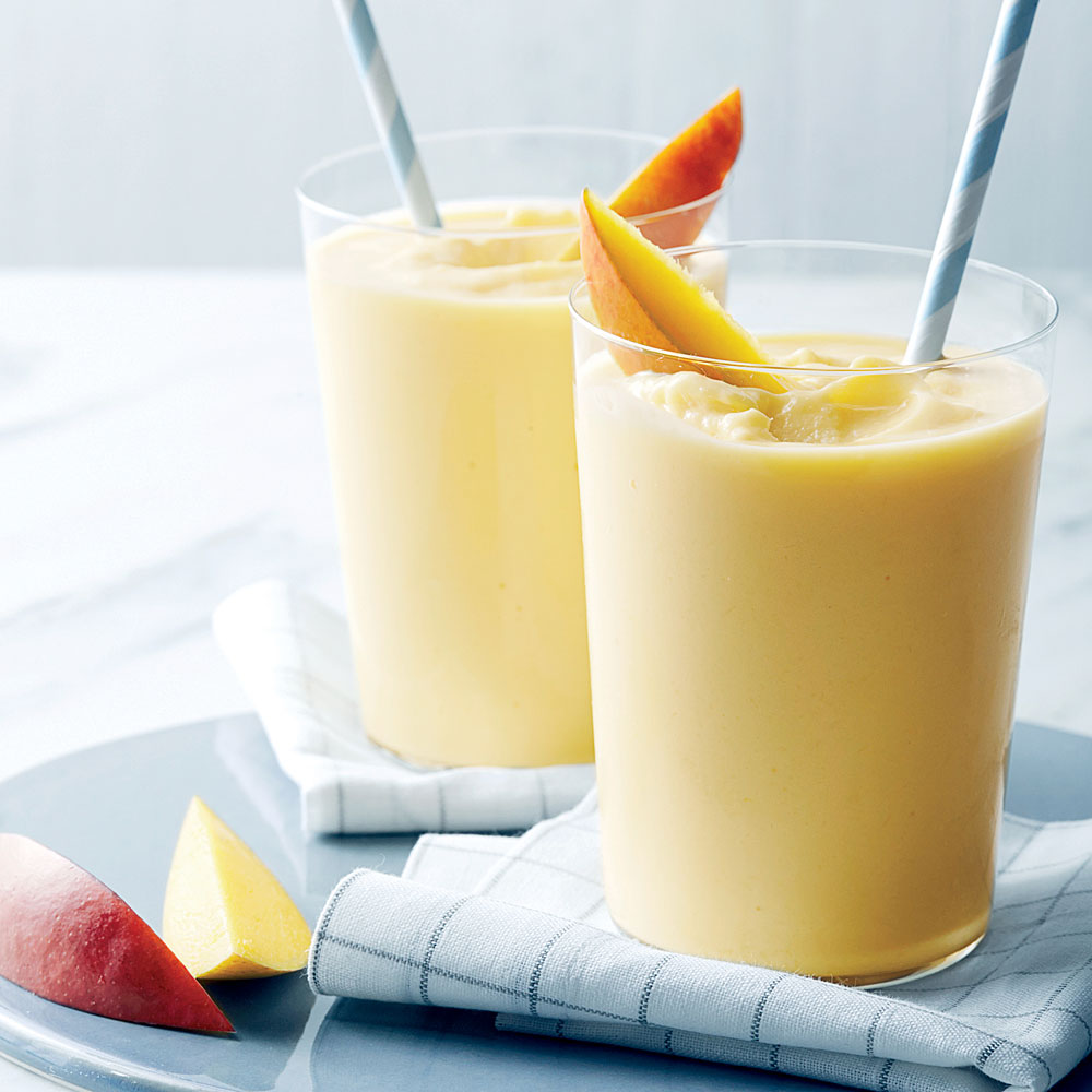 Frozen diced mango helps keep preparation to a minimum for this anytime smoothie. Blend with buttermilk, sugar and vanilla. Substitute other frozen fruits, like peaches, for fun variety.Mango-Buttermilk Shakes                            Recipe