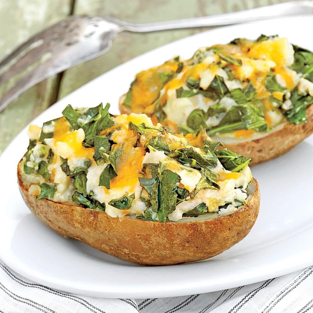 Twice-Baked Green Potatoes