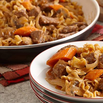 Beef Stew Stroganoff Pasta