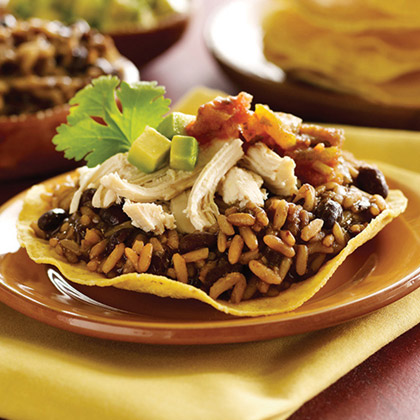 Black Beans and Rice Tostadas