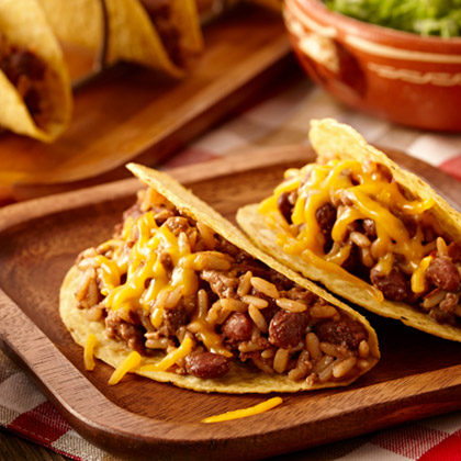 Red Beans and Rice Tacos