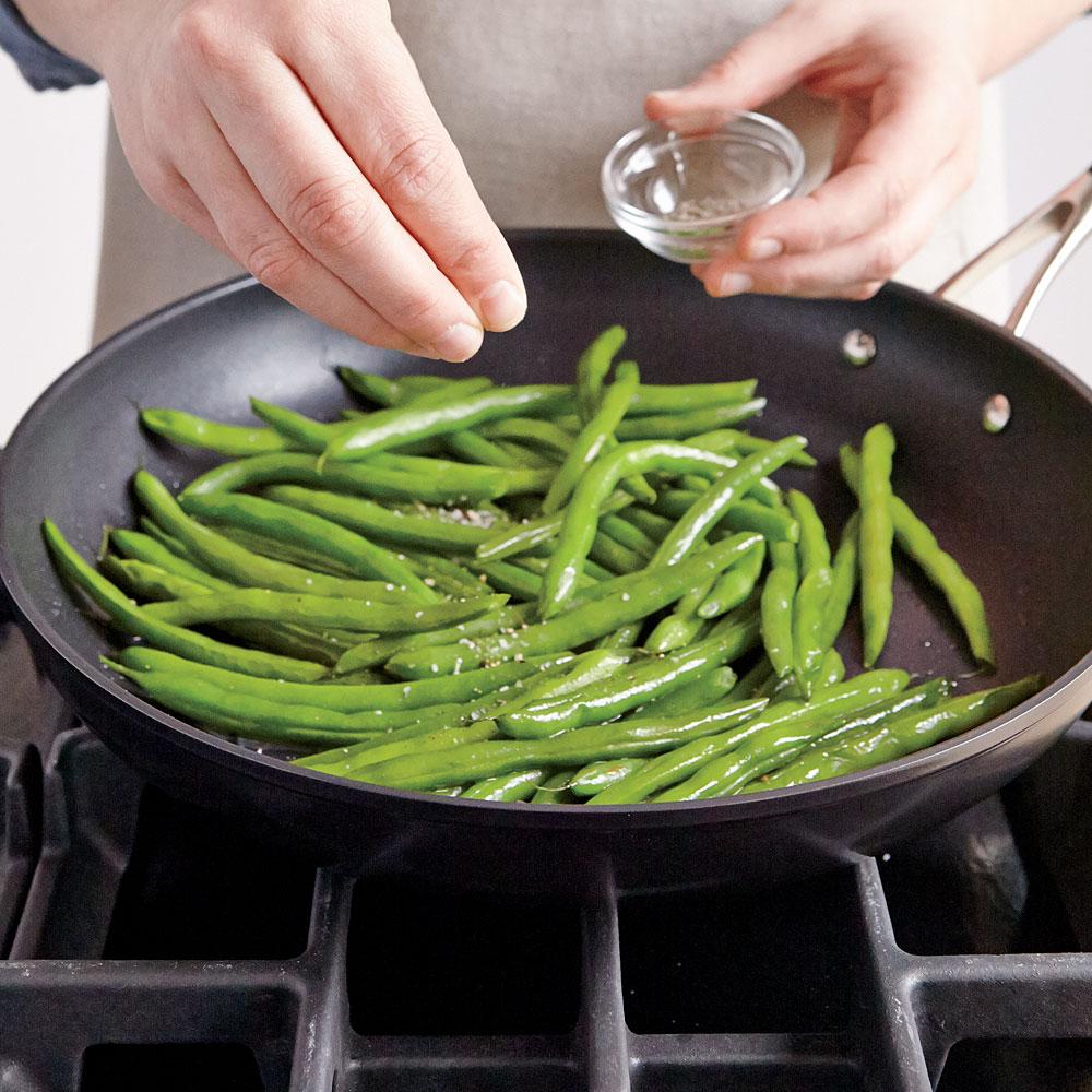 quick and easy green beans recipe myrecipes. Black Bedroom Furniture Sets. Home Design Ideas