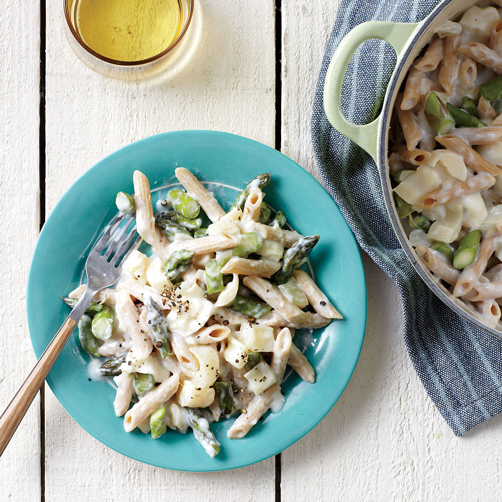 Creamy Asparagus and Hearts of Palm Pasta