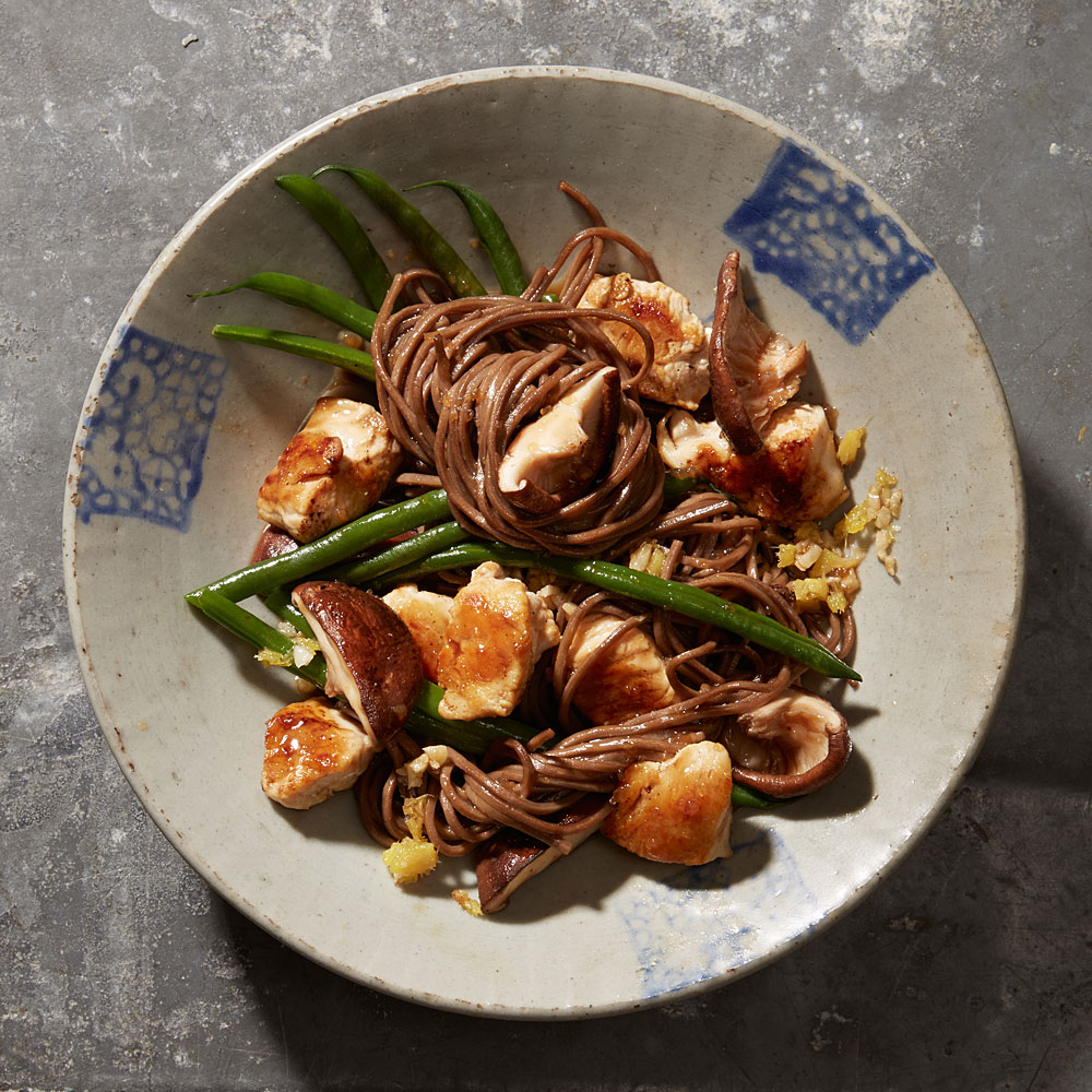 ck-Ginger Chicken with Shiitakes and Green Beans Image