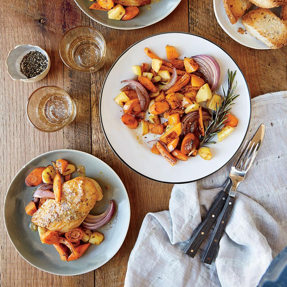 Mustard-Glazed Chicken with Roasted VegetablesRecipe