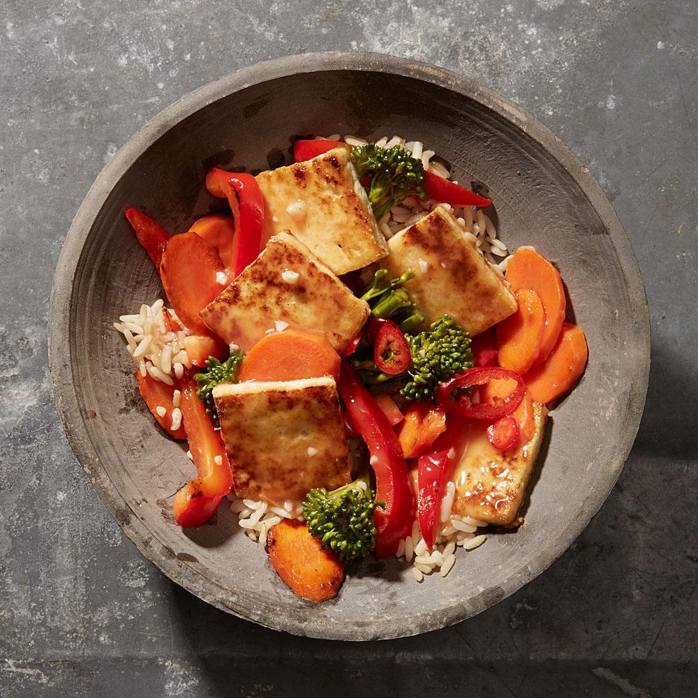 Sweet and Sour Tofu-Vegetable Stir-Fry