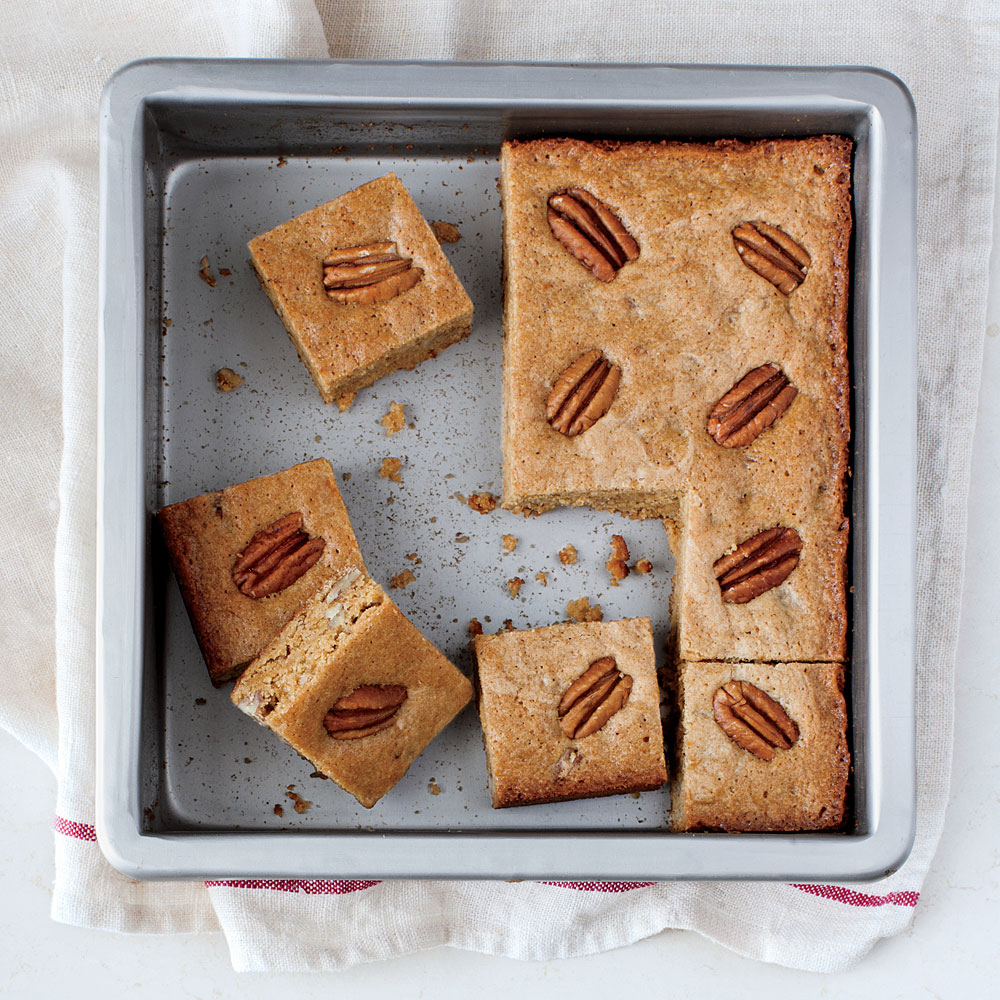 Whole-Grain Pecan Blondies