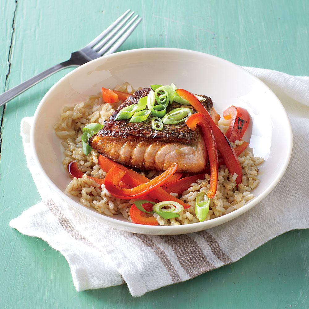 Teriyaki Salmon Rice Bowls