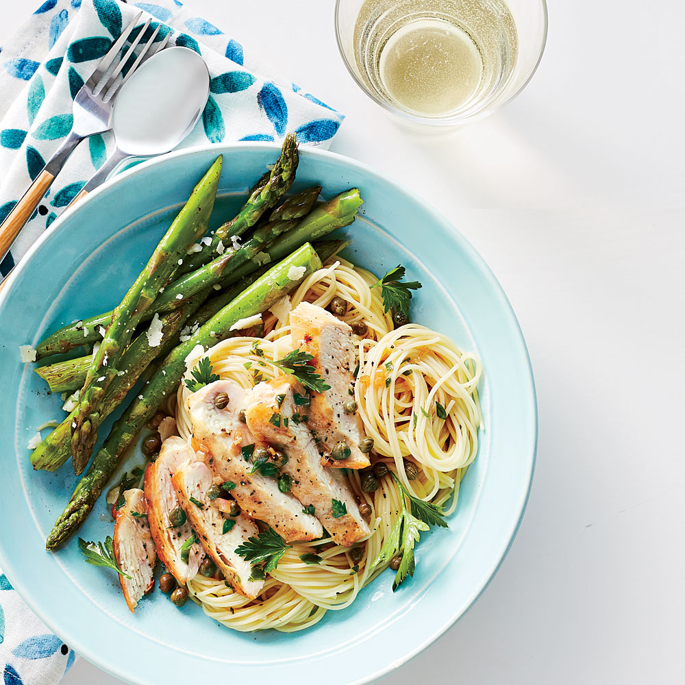 Chicken Piccata With Angel Hair Pasta Recipe Myrecipes
