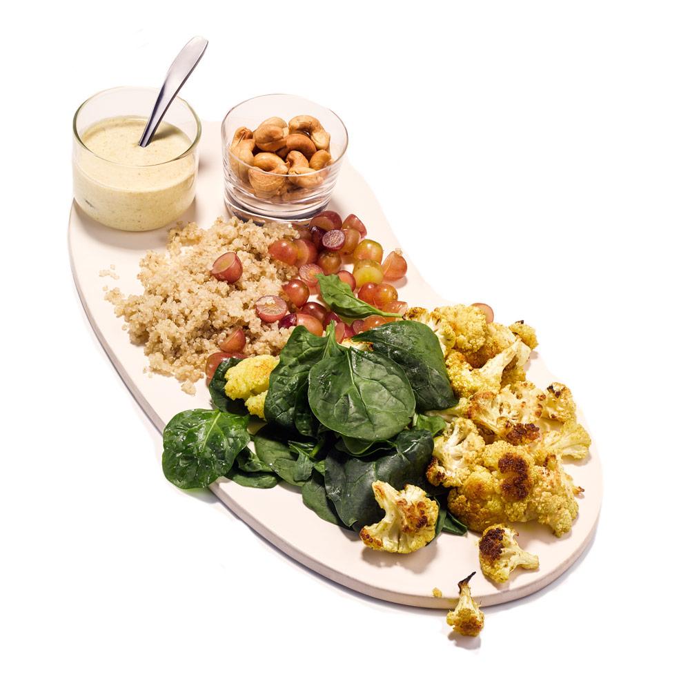 Indian Cauliflower and Quinoa Salad