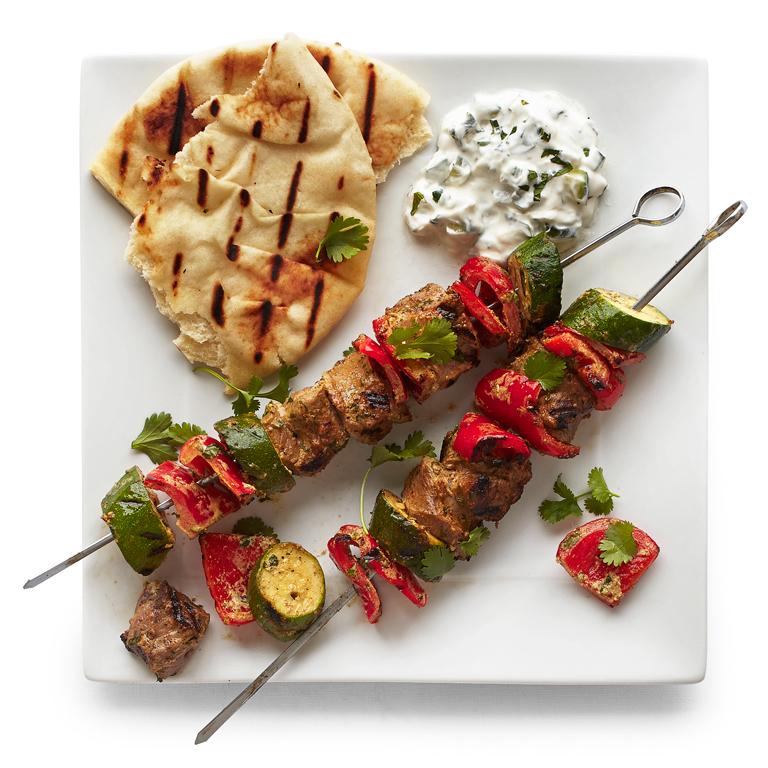 Indian-Spiced Lamb Kebabs