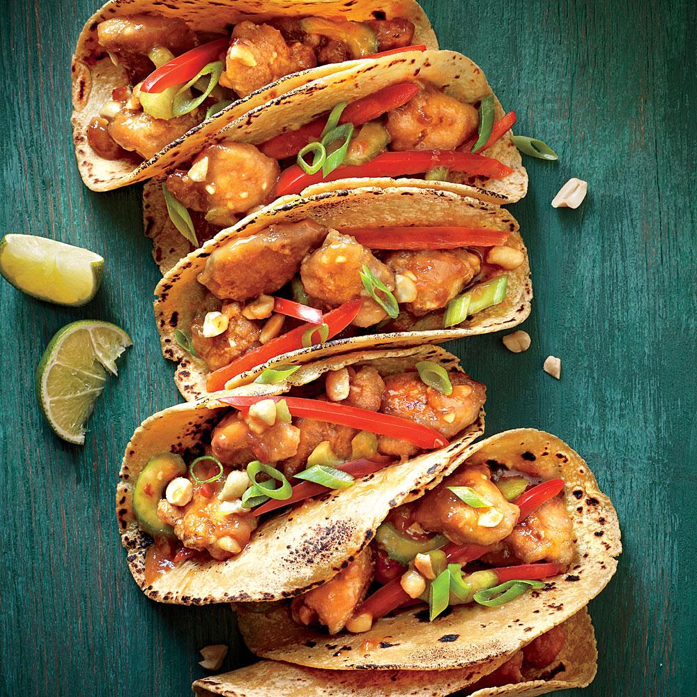 Sesame Chicken Tacos