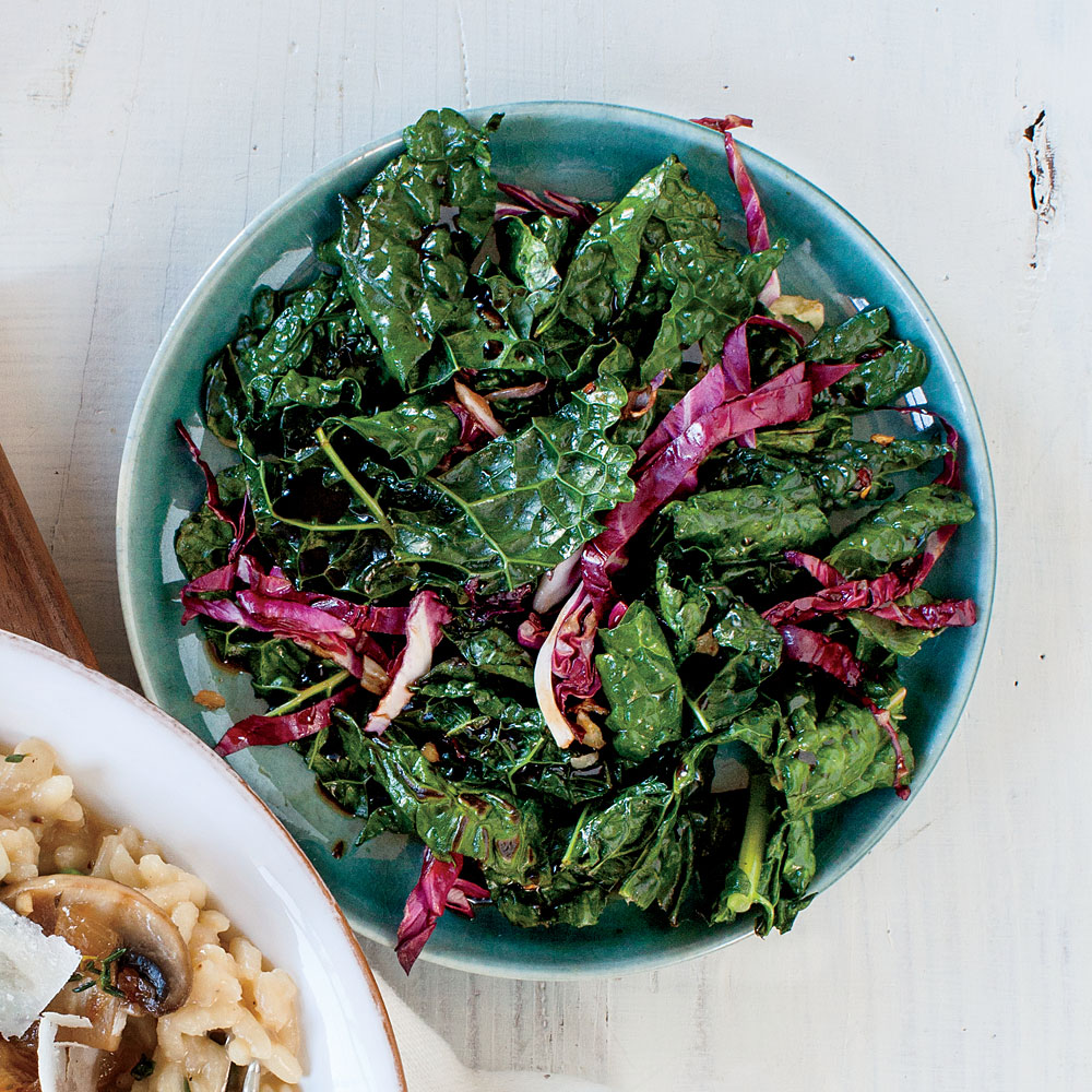 Balsamic Kale and Radicchio Sauté