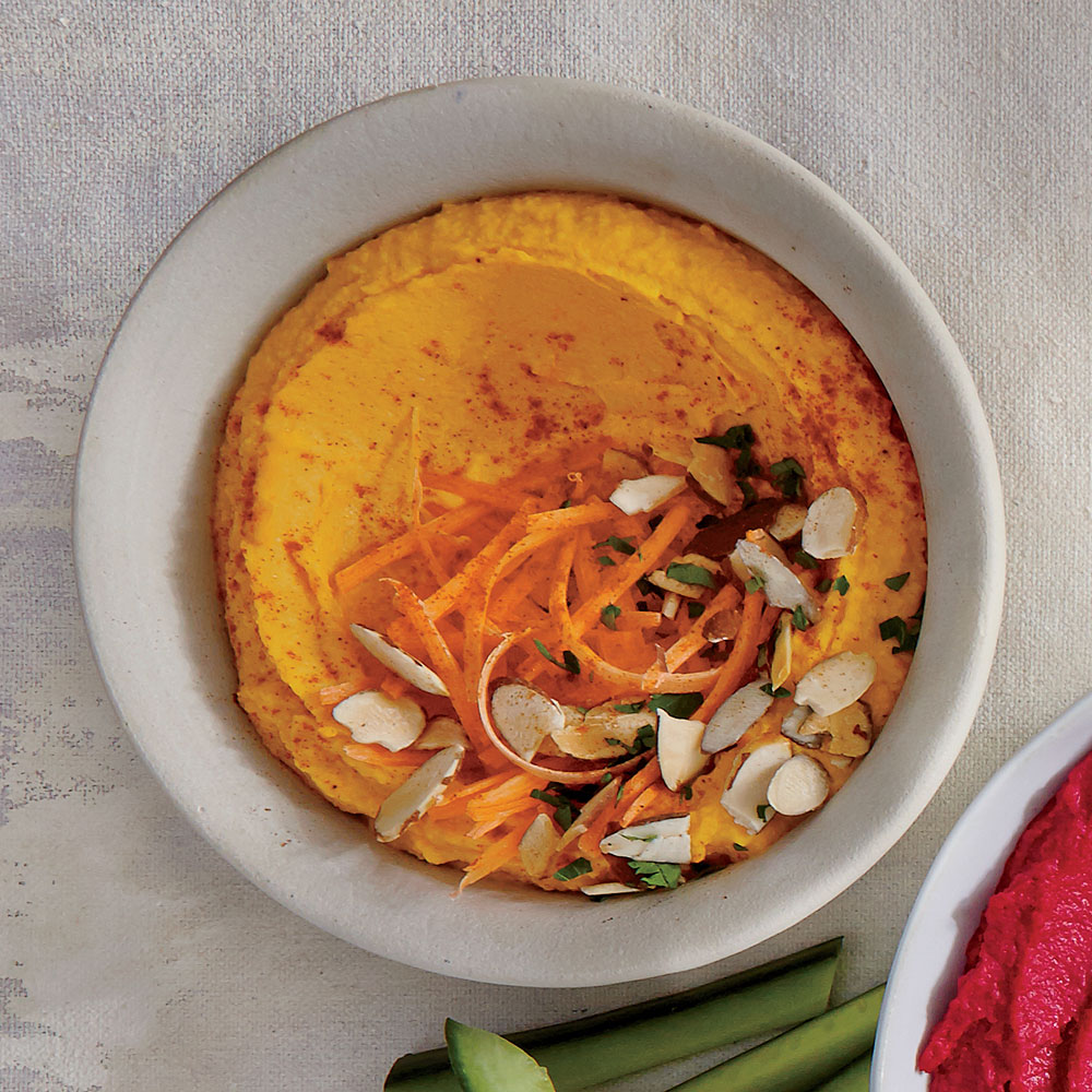 Carrot Hummus with Cumin and Almonds
