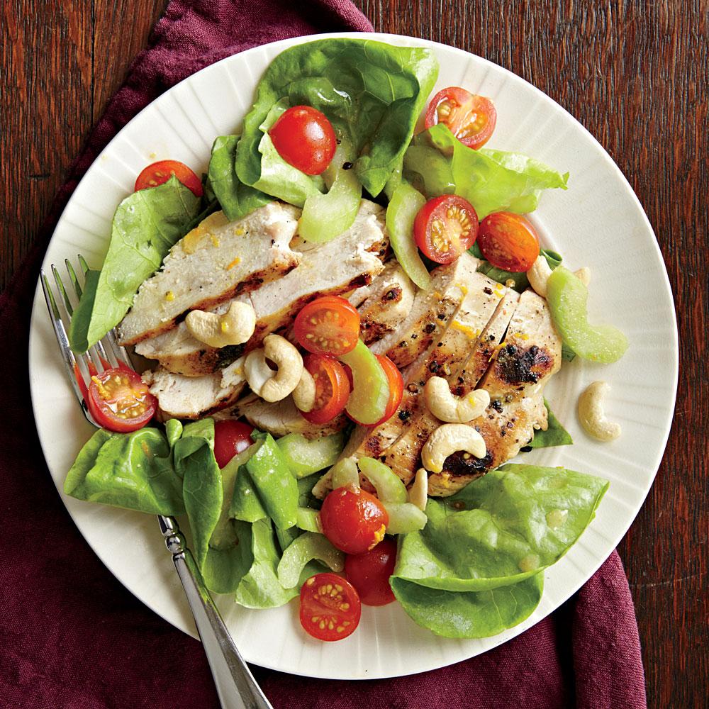 Grilled Chicken Salad with Orange Vinaigrette