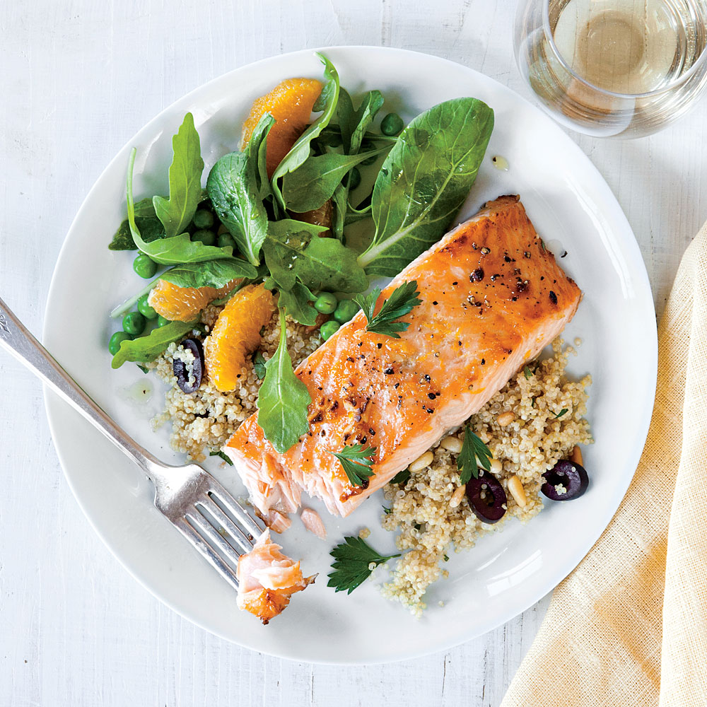 Easy orange glazed salmon recipe