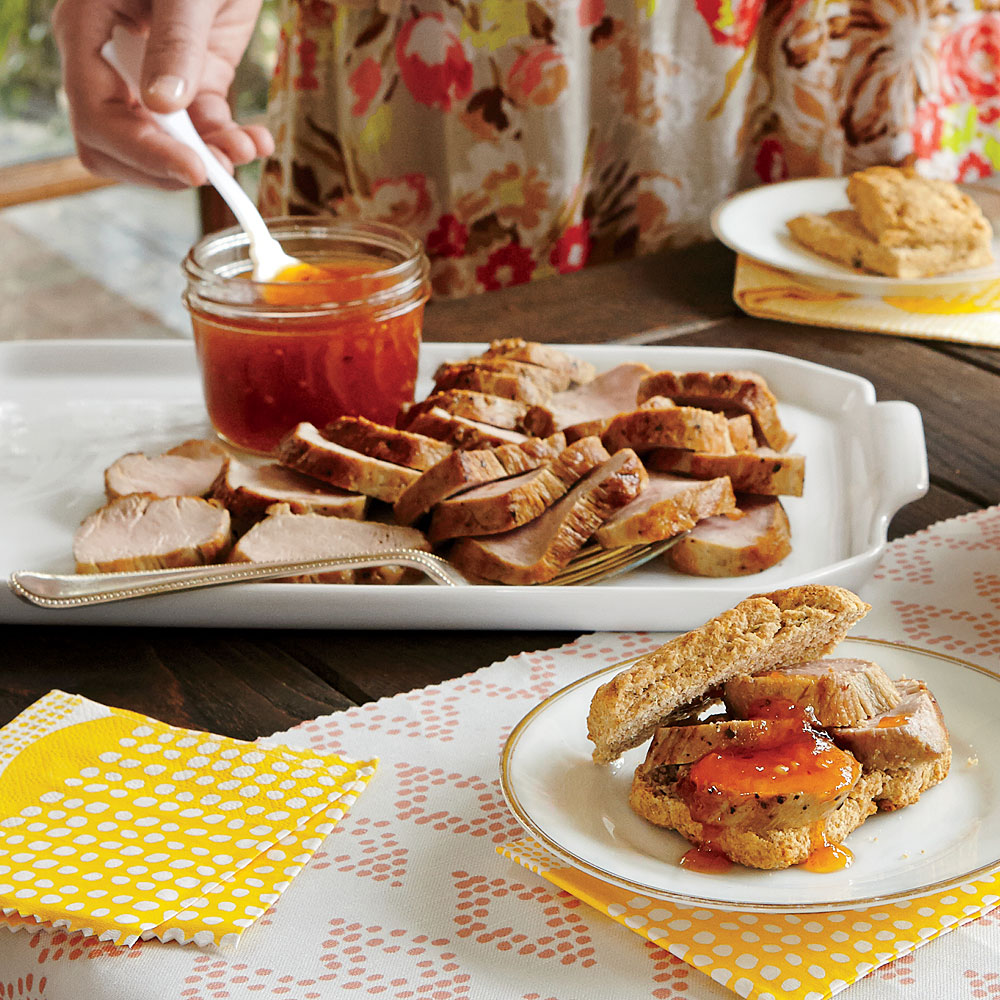Roast Pork Tenderloin with Spicy Apricot Jam
