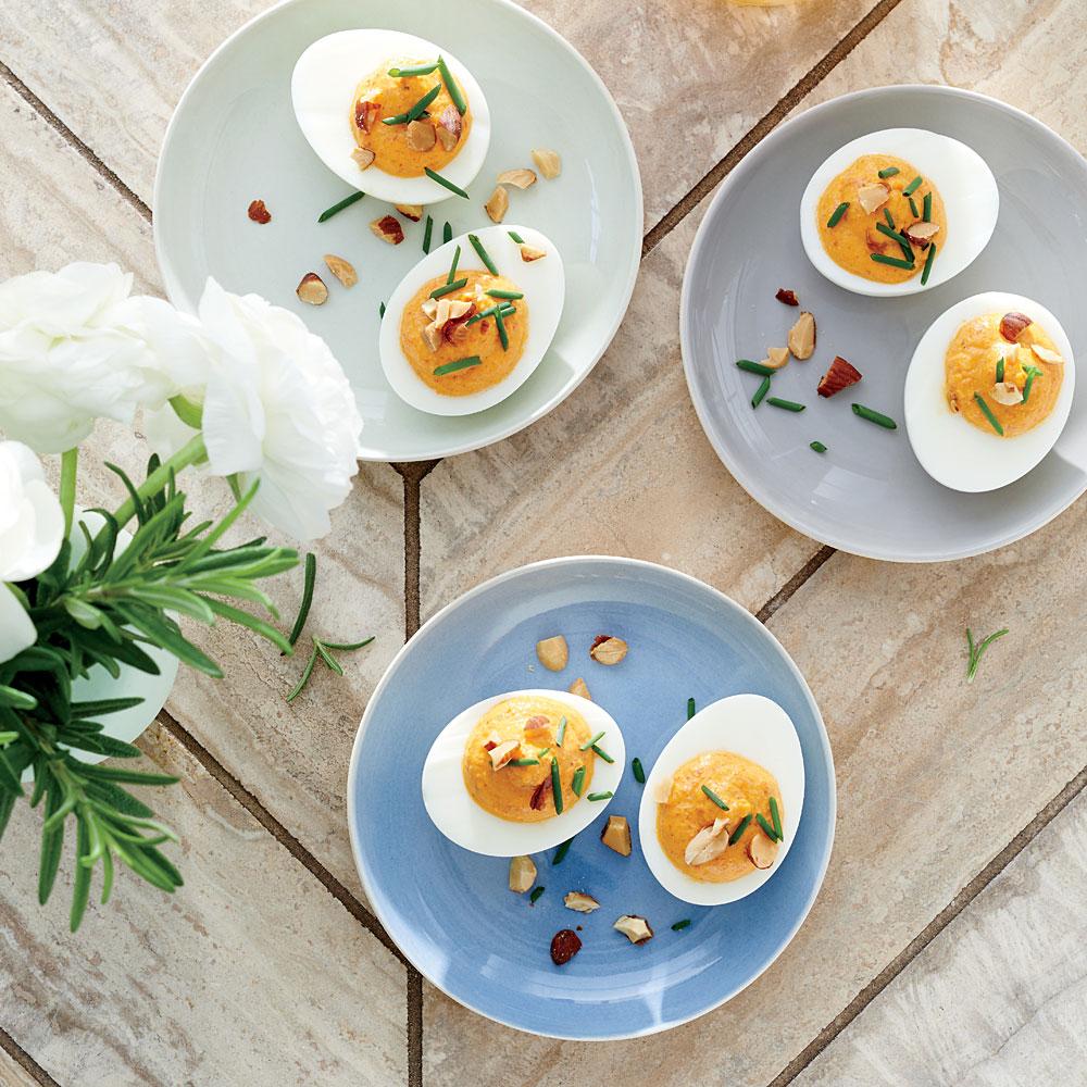 Roasted Red Pepper Deviled Eggs Recipe