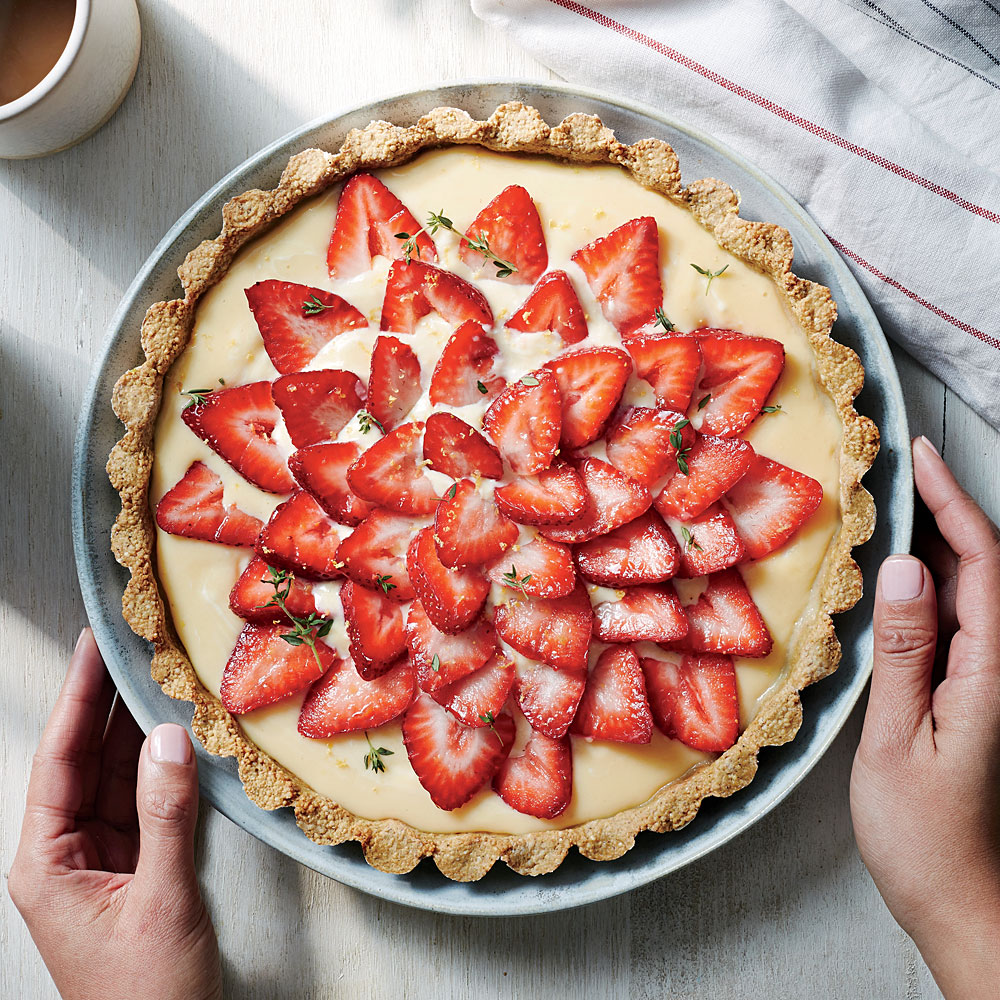 Strawberry Tart with Quinoa-Almond Crust Recipe | MyRecipes