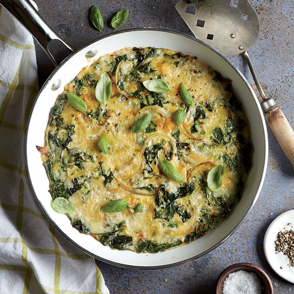 Swiss Chard and Onion Frittata