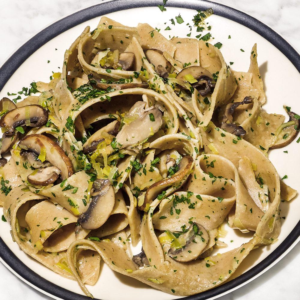 Creamy Three-Mushroom Pasta