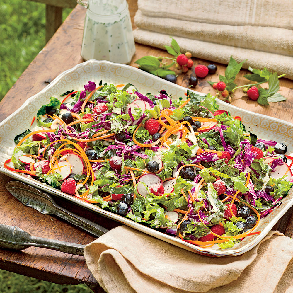 Kale-and-Blueberry Slaw with Buttermilk Dressing