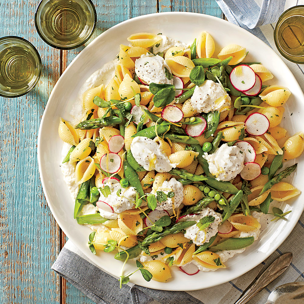 Pasta Shells With Spring Vegetables Recipe