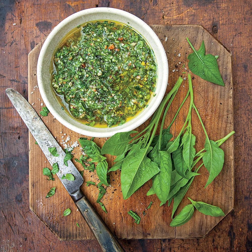 Spinach-and-Three-Herb Pesto