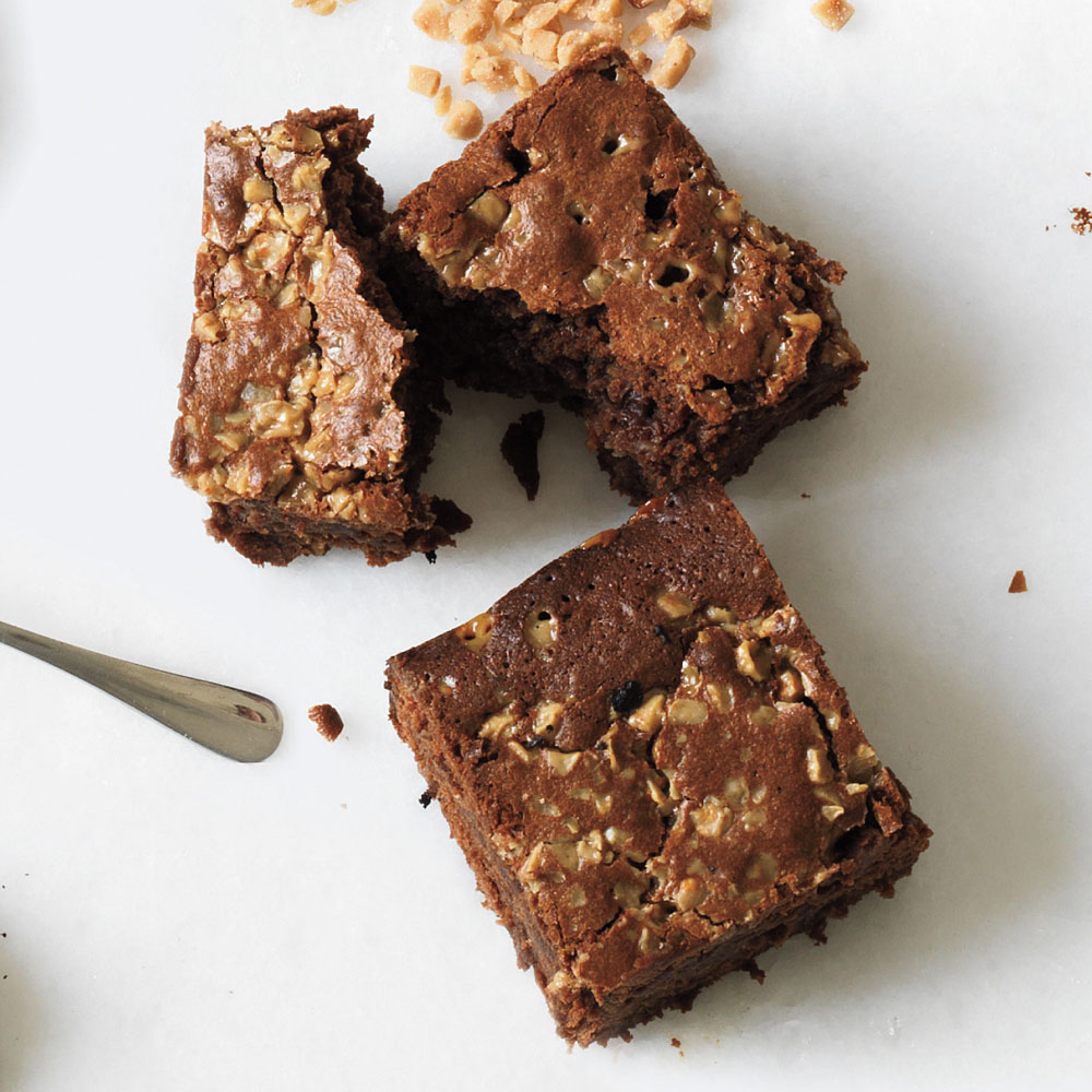Malted Toffee Brownies