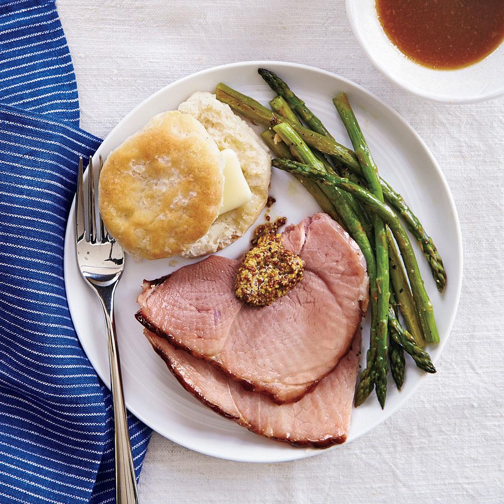 Maple Mustard-Glazed Ham