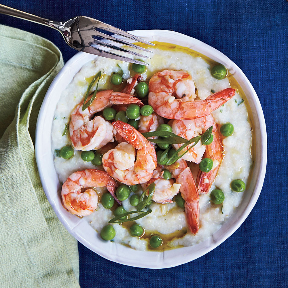 Shrimp with Goat Cheese Grits