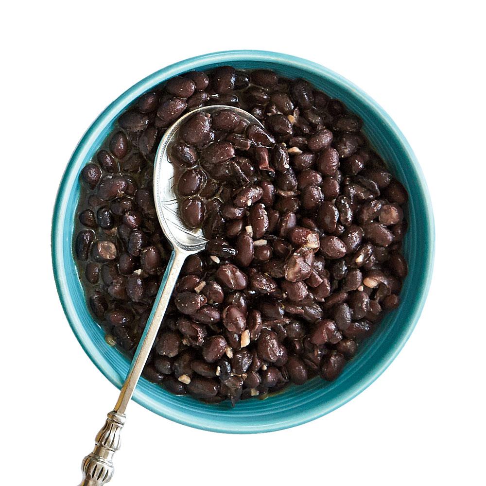 Garlicky Black Beans