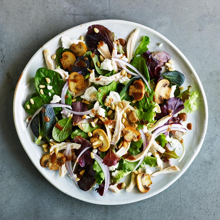 Warm Chicken and Sautéed Mushroom Salad Recipe | MyRecipes
