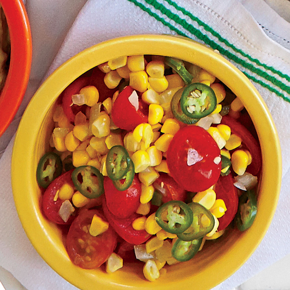 Warm Corn-Poblano Salsa
